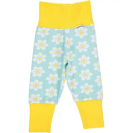 Maxomorra Flower Rib Pants