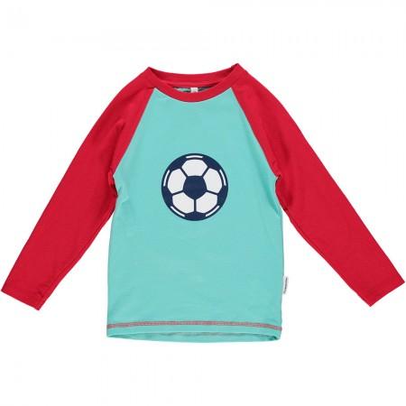 Maxomorra Football Print Raglan LS Top
