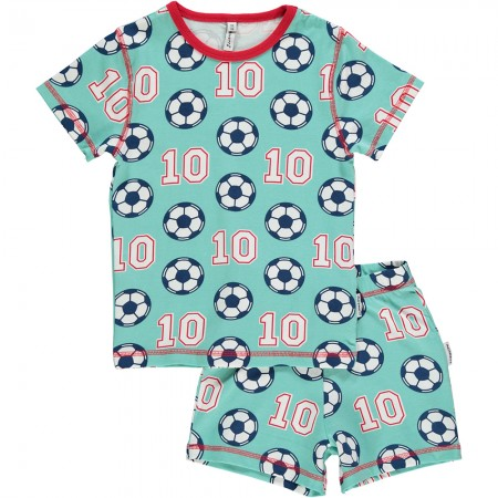 Maxomorra Football Shortie Pyjamas