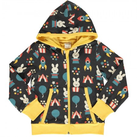 Maxomorra Fun Park Hooded Cardigan