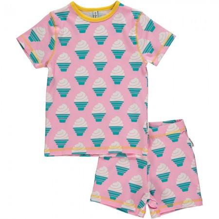 Maxomorra Ice Cream Shortie Pyjamas