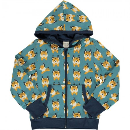 Maxomorra Lively Lynx Hooded Cardigan