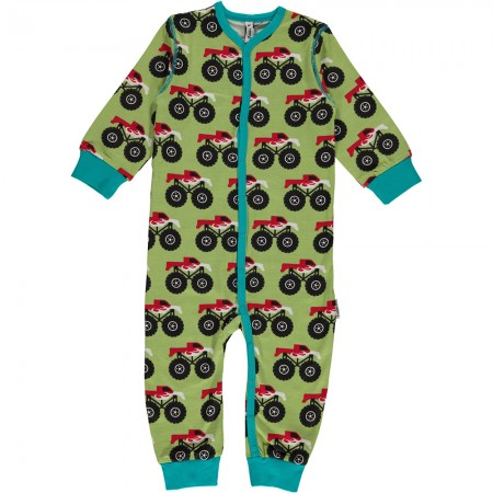 Maxomorra Monster Truck Romper
