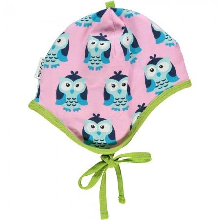 Maxomorra Owl Baby Bonnet Hat