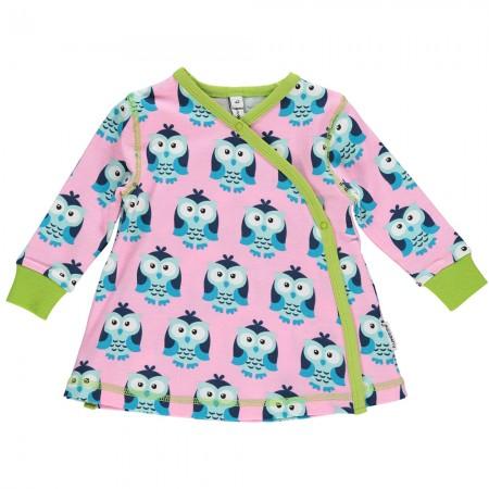 Maxomorra Owl LS Wrap Dress