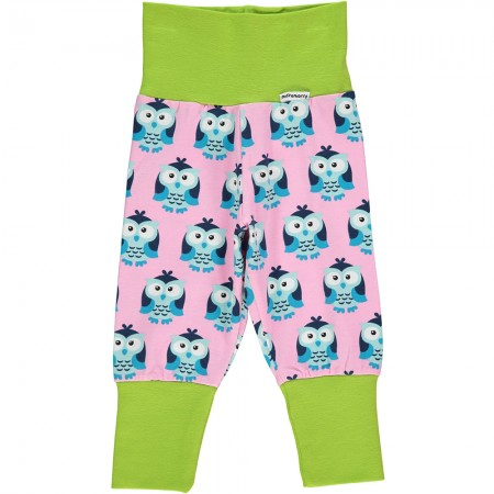 Maxomorra Owl Rib Pants