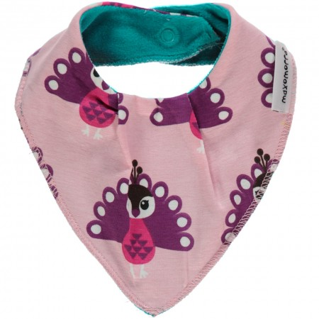 Maxomorra Peacock Dribble Bib