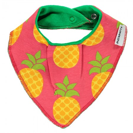Maxomorra Pineapple Dribble Bib