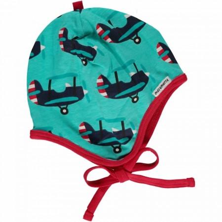 Maxomorra Plane Baby Bonnet Hat
