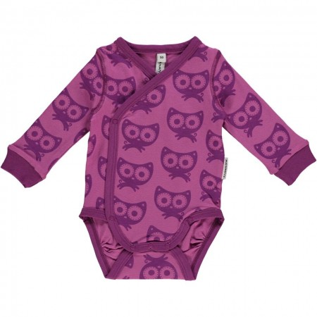 Maxomorra Purple Cats LS Wrap Body