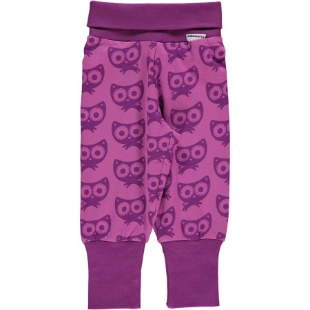Maxomorra Purple Cats Rib Pants