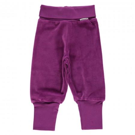 Maxomorra Purple Velour Rib Pants