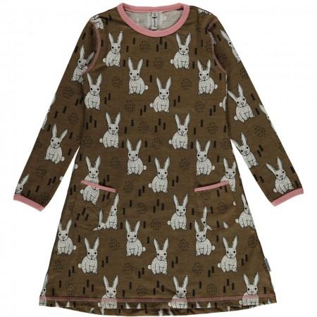 Maxomorra Rabbit LS Dress