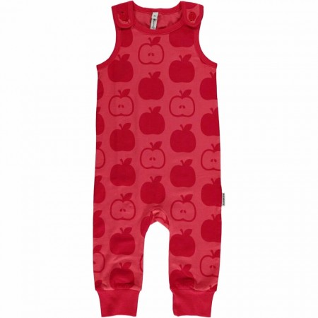 Maxomorra Red Apples Dungarees