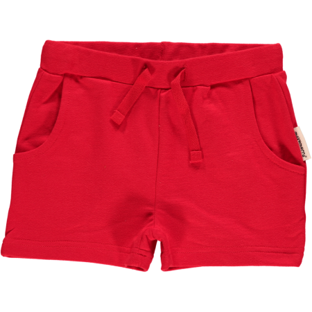 Maxomorra Red Sweat Shorts