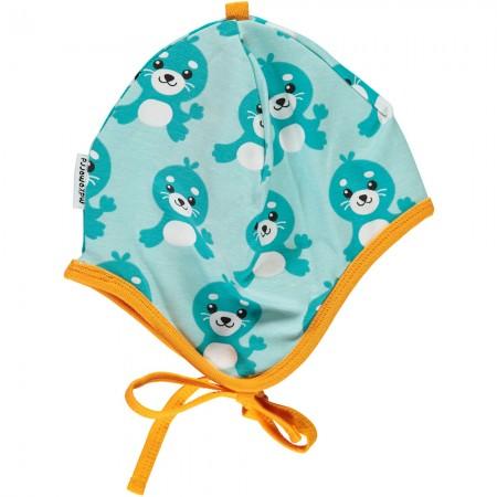 Maxomorra Seal Baby Bonnet Hat