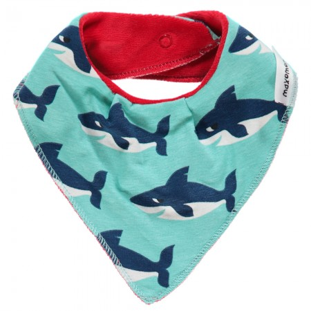Maxomorra Shark Dribble Bib
