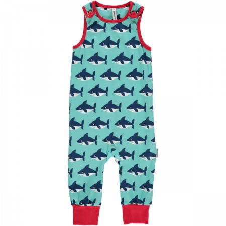 Maxomorra Shark Dungarees