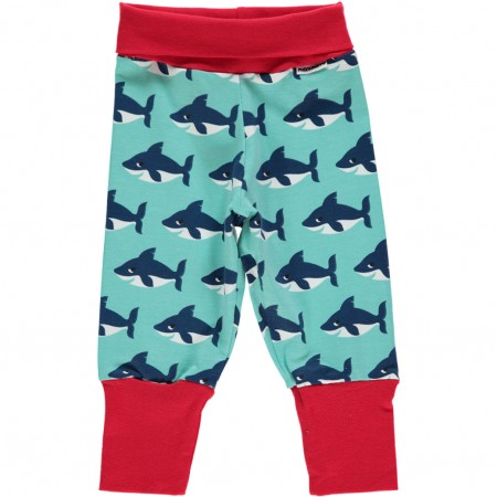Maxomorra Shark Rib Pants