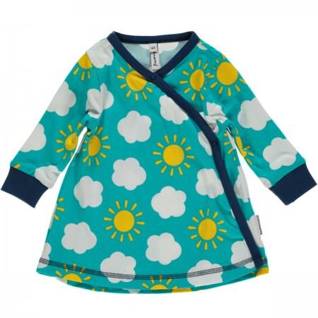 Maxomorra Sky LS Wrap Dress