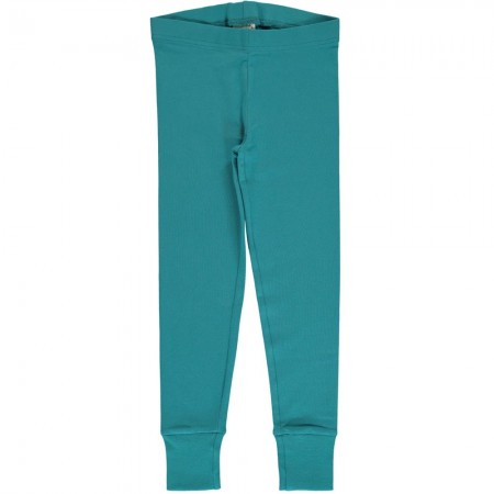Maxomorra Solid Arctic Blue Cuff Leggings