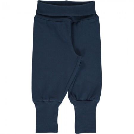 Maxomorra Solid Midnight Rib Pants
