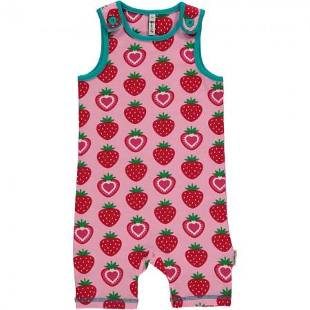 Maxomorra Strawberry Short Dungarees