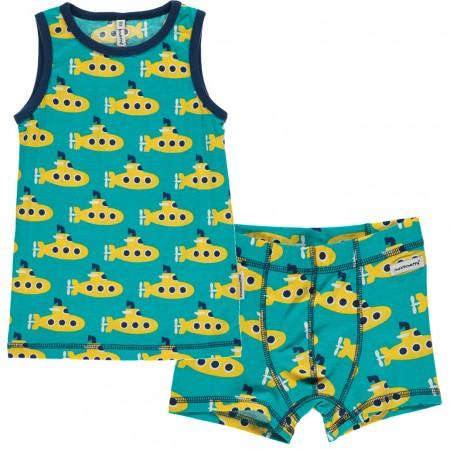 Maxomorra Submarine Boxers & Vest Set