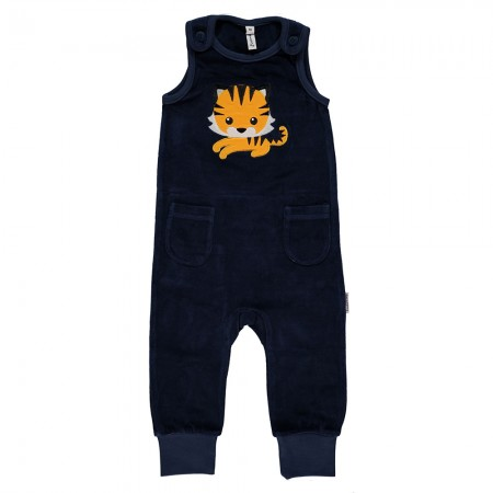 Maxomorra Tiger Embroidered Dungarees