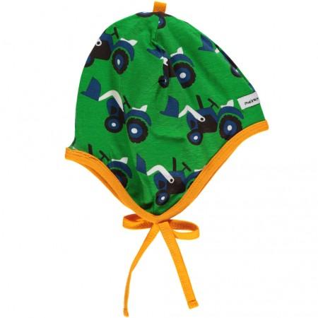 Maxomorra Tractor Baby Bonnet Hat