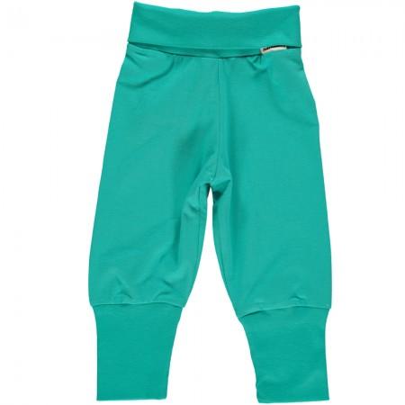 Maxomorra Turquoise Rib Pants