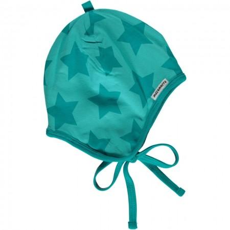 Maxomorra Turquoise Stars Baby Bonnet Hat