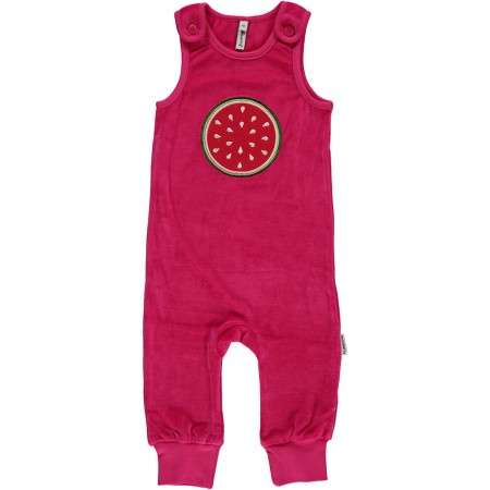 Maxomorra Watermelon Embroidered Dungarees