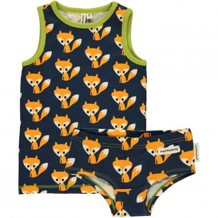 Maxomorra Fox Knickers & Vest
