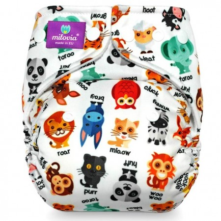 Milovia Coolmax Pocket Nappies-Noisy animals