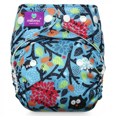 Milovia Pocket Nappies-Mysterious owls