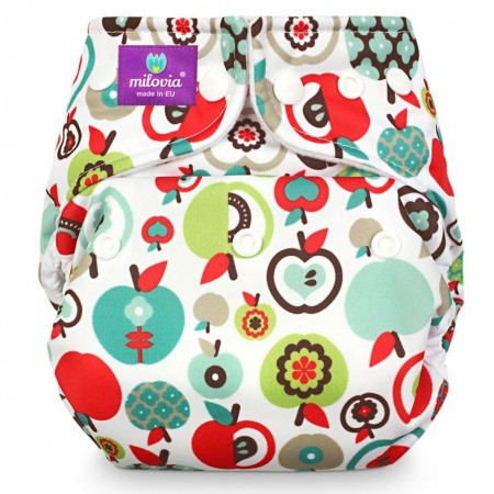 Milovia Pocket Nappies-Retro apples
