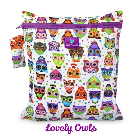 Milovia Nappy Wet Bags-lovely owls
