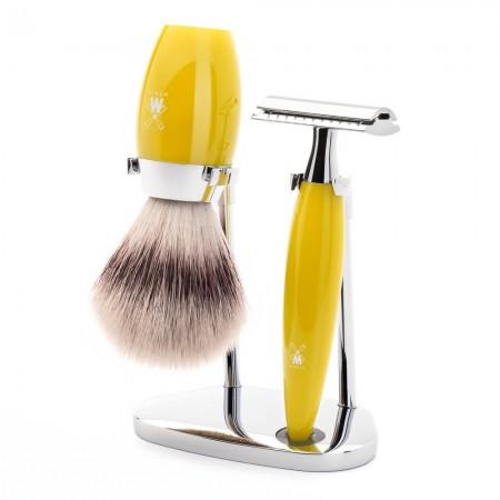 MÜHLE Kosmo 3 Piece Shaving Set - Citrine Resin