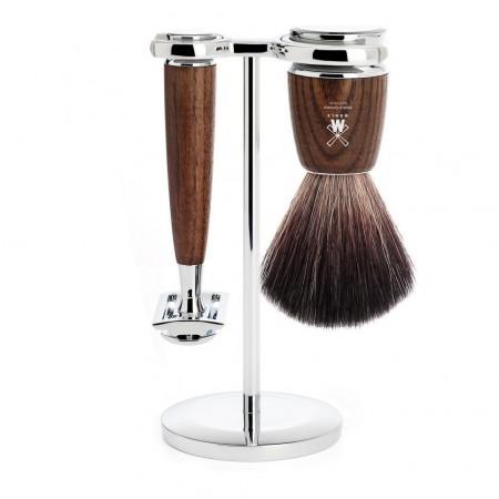 MÜHLE Rytmo 3 Piece Shaving Set - Steamed Ash