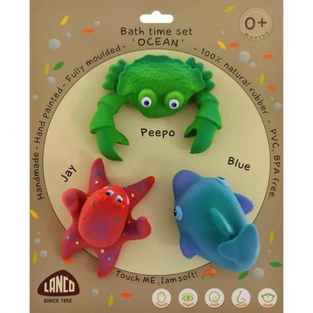 100 Natural Rubber Bath Toys Ocean Play Set