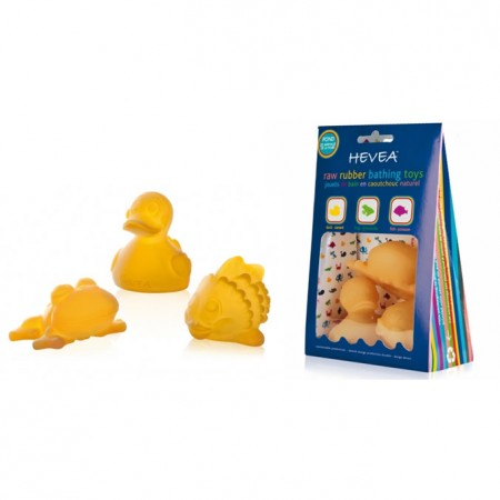 Hevea Bath Toys Pack of 3