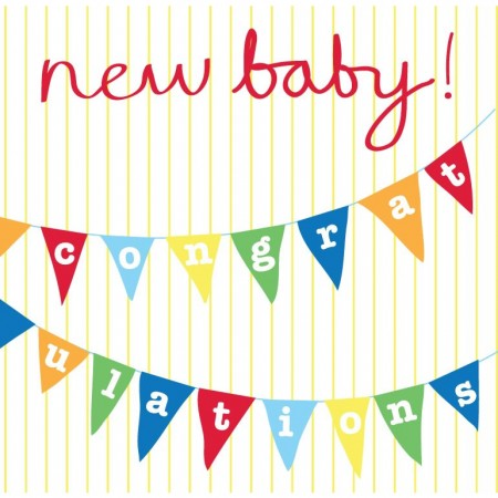Toby Tiger New Baby Bunting Card