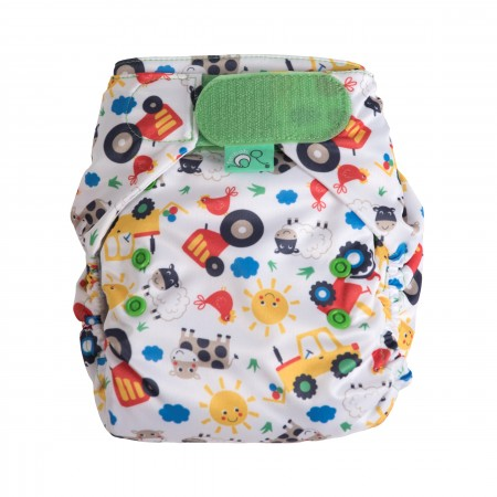 Frugi Easyfit V4 Nappy - Farm Friends