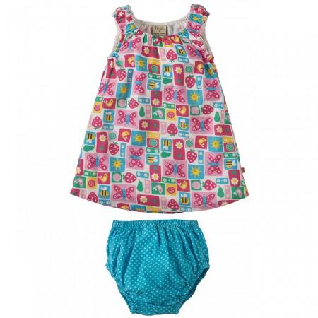Frugi Strawberry Patchwork Pretty Dress Set