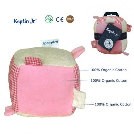 Keptin Jr Rattle Cube Pink