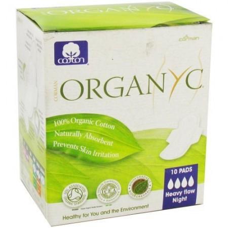Organyc 10 Heavy Flow & Night Sanitary Pads