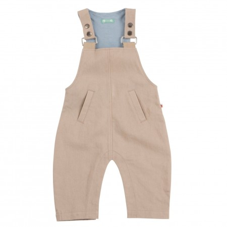 Piccalilly Taupe Dungarees