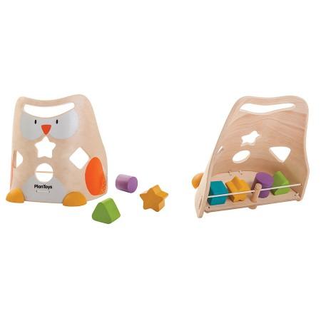 Plan Toys Owl Shape Sorter