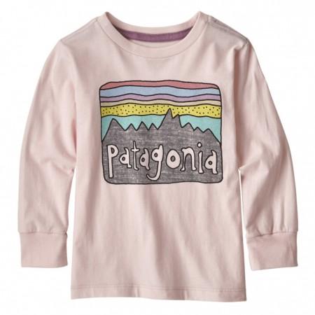Patagonia Fitz Roy Skies Pink Graphic LS T-Shirt